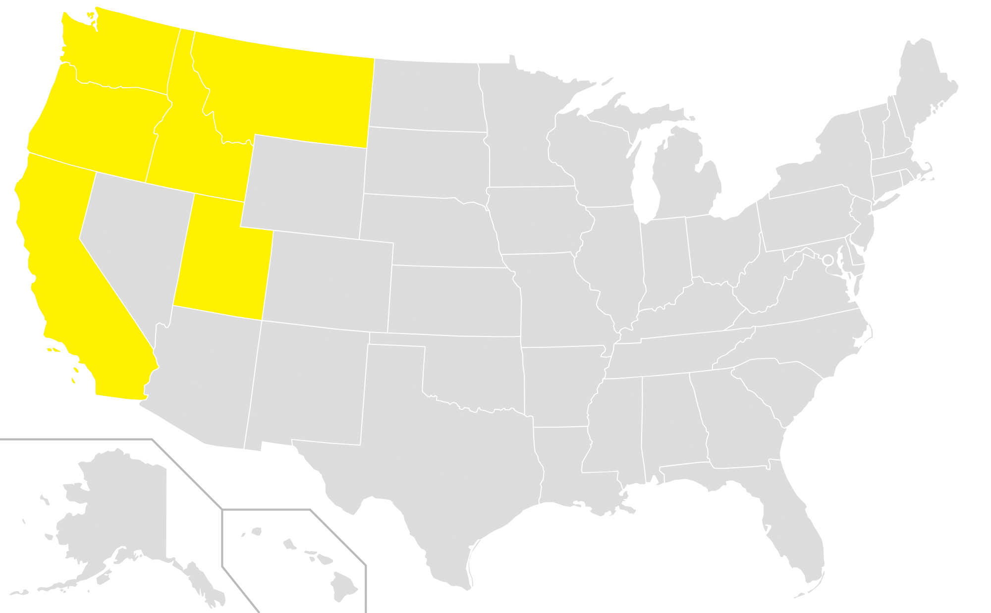 Map with Smart FoodService states highlighted